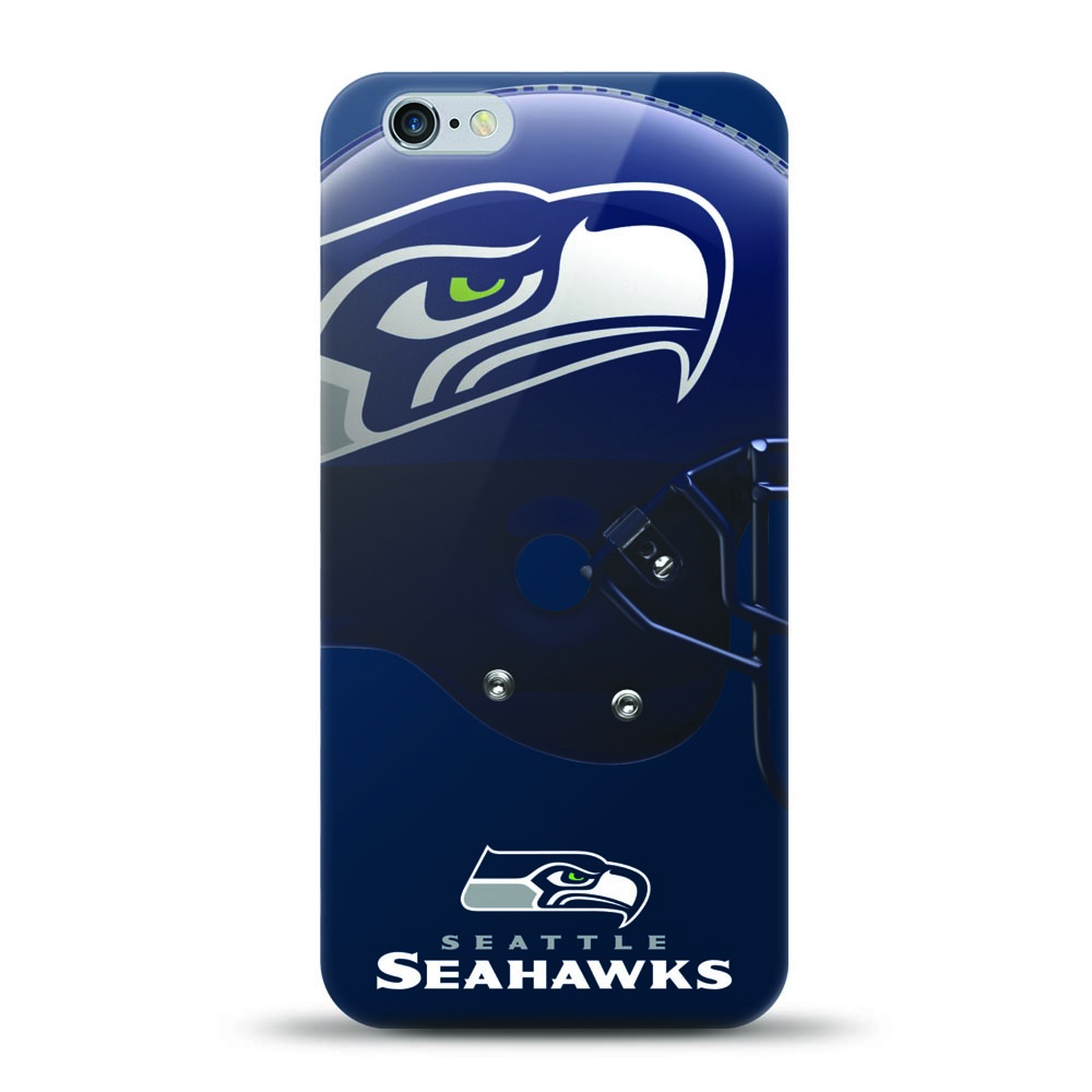 [MIZCO] Apple iPhone 6S Plus / 6 Plus Case, Helmet Series NFL Licensed [Seattle Seahawks] Slim & Flexible Anti-shock Crystal Silicone Protective TPU Gel Skin Case Cover