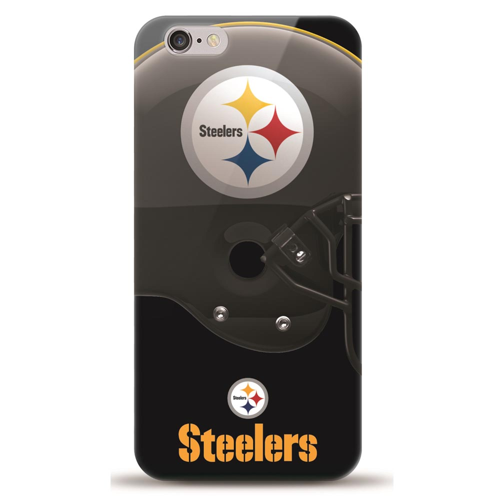 Made for Apple iPhone 6S Plus / 6 Plus Case, Helmet Series NFL Licensed [Pittsburgh Steelers] Slim Flexible Anti-shock Crystal Silicone Protective TPU Gel Skin Case Cover by Mizco