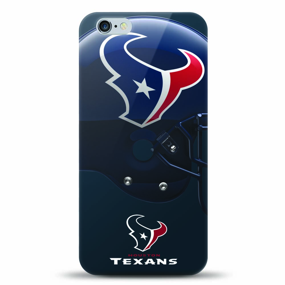 [MIZCO] Apple iPhone 6S Plus / 6 Plus Case, Helmet Series NFL Licensed [Houston Texans] Slim & Flexible Anti-shock Crystal Silicone Protective TPU Gel Skin Case Cover