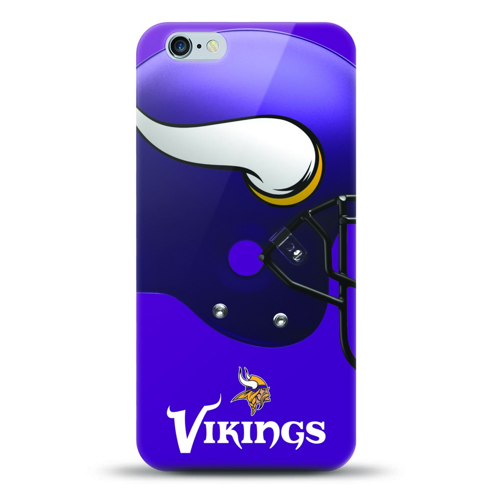 Made for Apple iPhone 6S Plus / 6 Plus Case, Helmet Series NFL Licensed [Minnesota Vikings] Slim Flexible Anti-shock Crystal Silicone Protective TPU Gel Skin Case Cover by Mizco