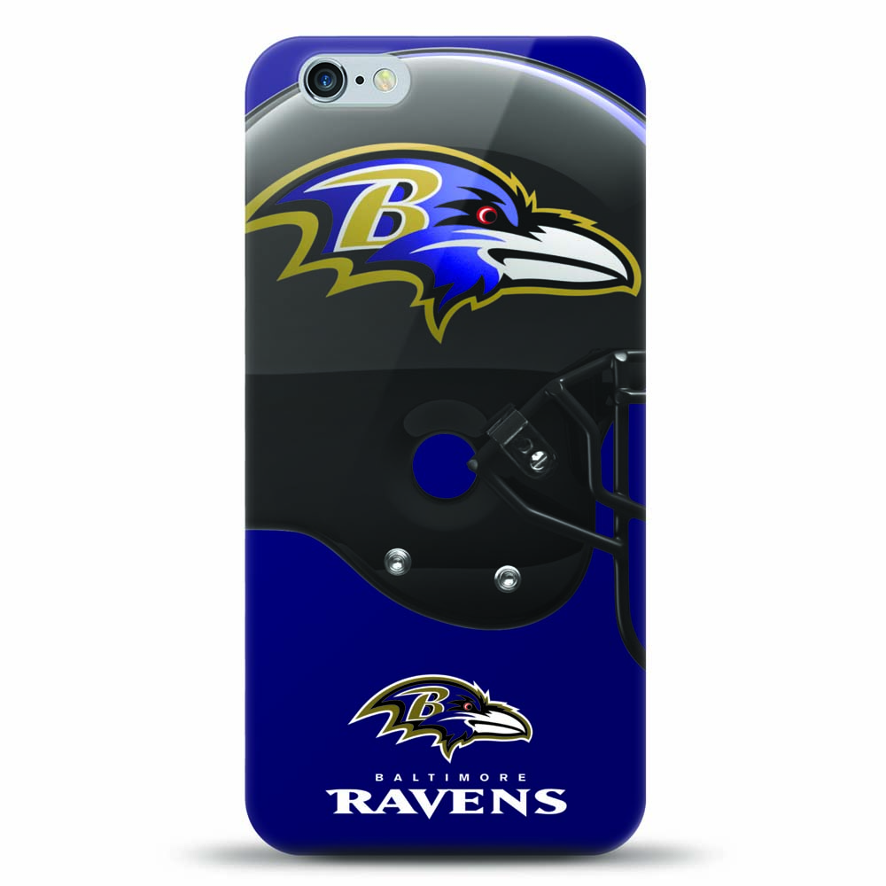 [MIZCO] Apple iPhone 6S / 6 Case, Helmet Series NFL Licensed [Baltimore Ravens] Slim & Flexible Anti-shock Crystal Silicone Protective TPU Gel Skin Case Cover