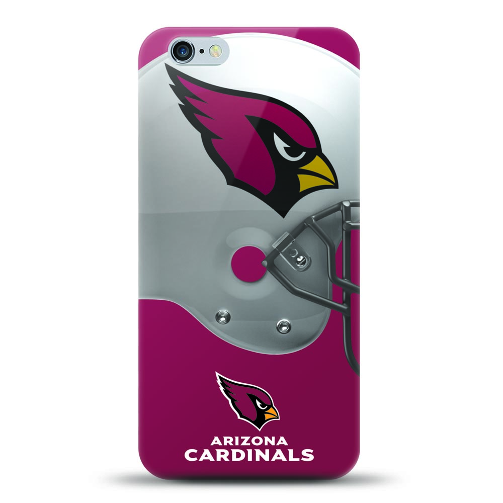 [MIZCO] Apple iPhone 8 / 7 / 6S / 6 Case, Helmet Series NFL Licensed [Arizona Cardinals] Slim & Flexible Anti-shock Crystal Silicone Protective TPU Gel Skin Case Cover