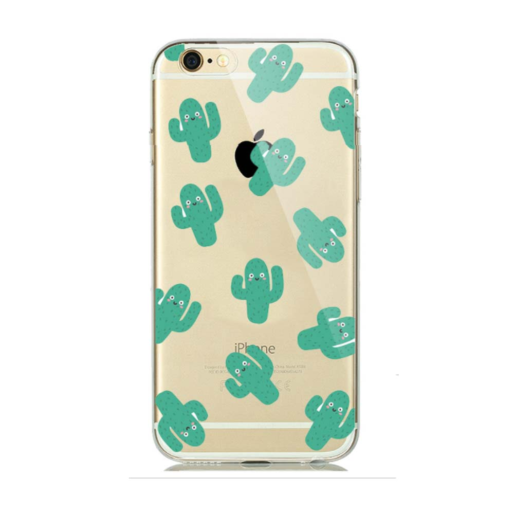 Made for Apple iPhone 8 / 7 / 6S / 6 TPU Case, [Green Cactus] Slim Flexible Anti-shock Crystal Silicone Protective TPU Gel Skin Case Cover by Redshield