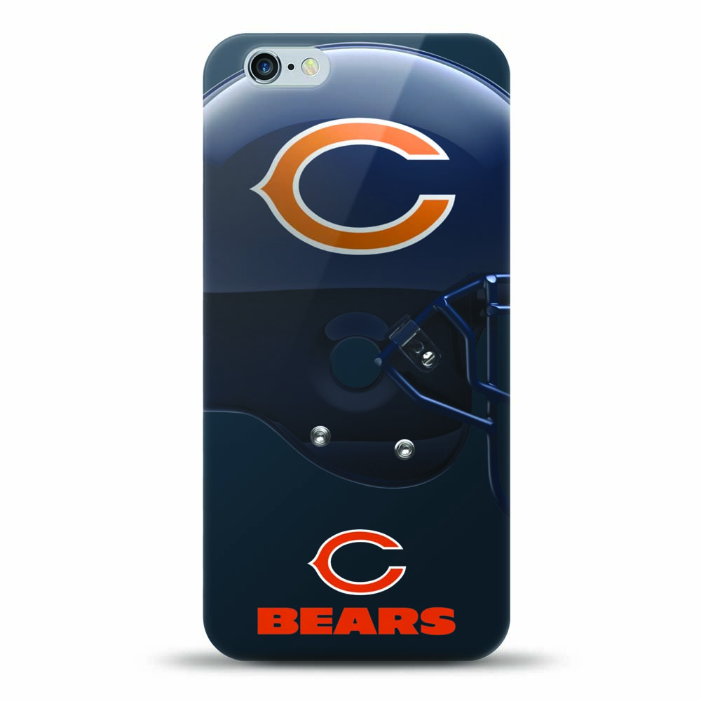 [MIZCO] Apple iPhone 8 / 7 / 6S / 6 Case, Helmet Series NFL Licensed [Chicago Bears] Slim & Flexible Anti-shock Crystal Silicone Protective TPU Gel Skin Case Cover