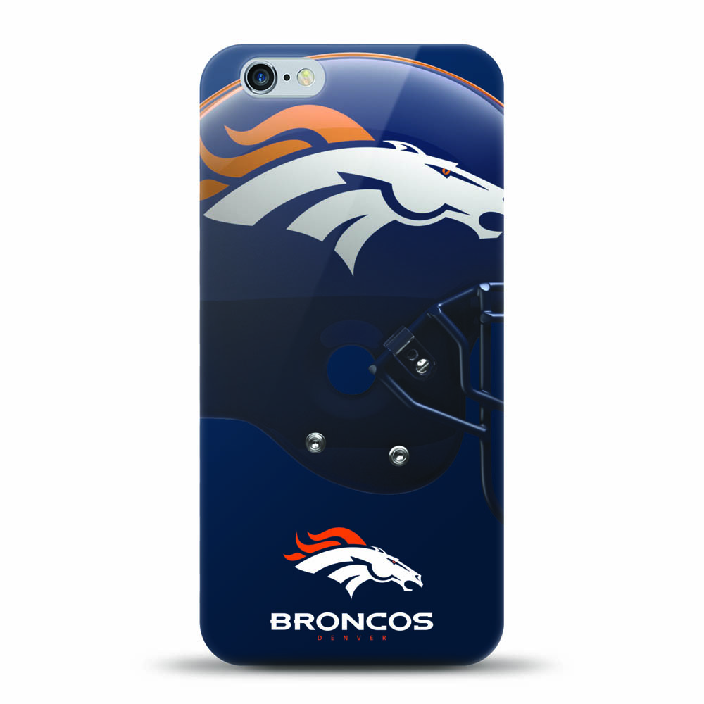 [MIZCO] Apple iPhone 8 / 7 / 6S / 6 Case, Helmet Series NFL Licensed [Denver Broncos] Slim & Flexible Anti-shock Crystal Silicone Protective TPU Gel Skin Case Cover