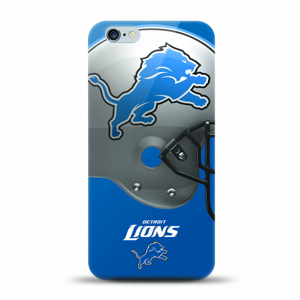 [MIZCO] Apple iPhone 8 / 7 / 6S / 6 Case, Helmet Series NFL Licensed [Detroit Lions] Slim & Flexible Anti-shock Crystal Silicone Protective TPU Gel Skin Case Cover