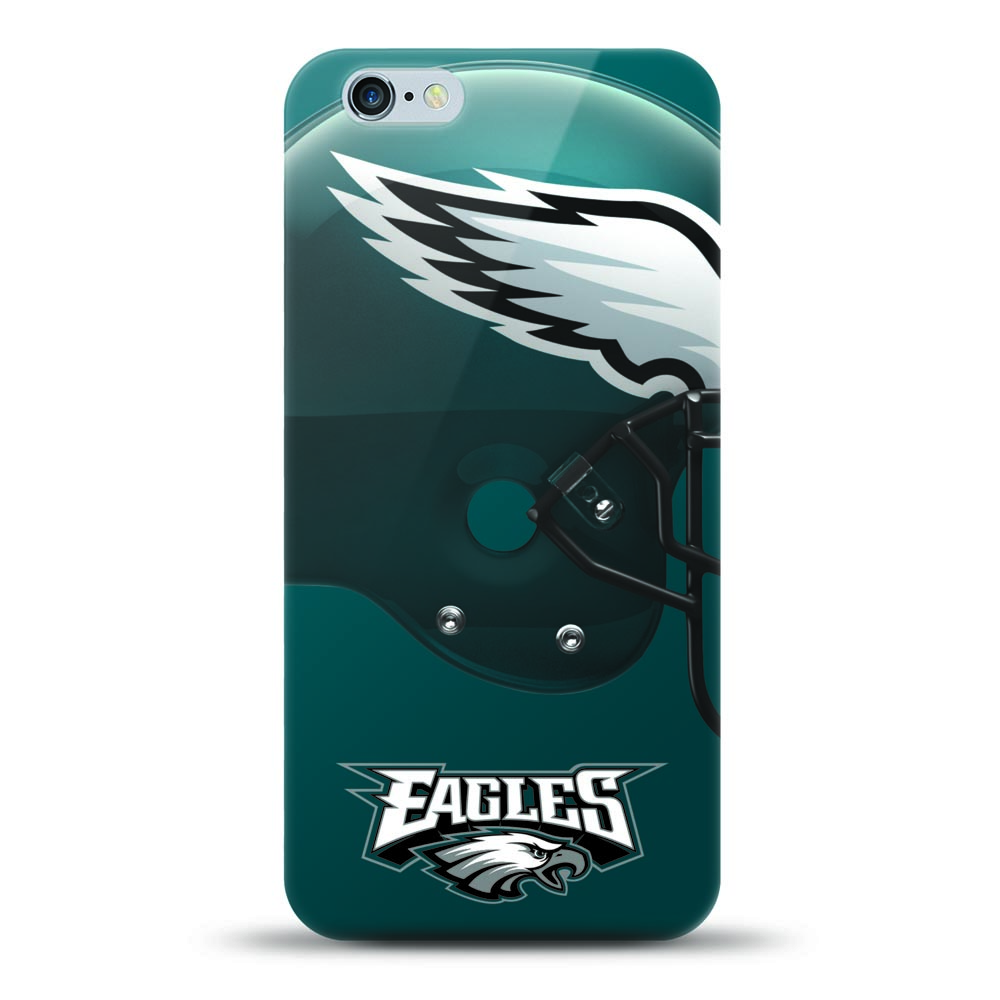 [MIZCO] Apple iPhone 8 / 7 / 6S / 6 Case, Helmet Series NFL Licensed [Philadelphia Eagles] Slim & Flexible Anti-shock Crystal Silicone Protective TPU Gel Skin Case Cover