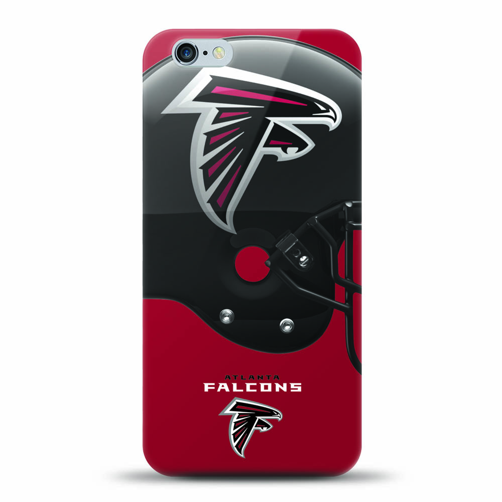 [MIZCO] Apple iPhone 8 / 7 / 6S / 6 Case, Helmet Series NFL Licensed [Atlanta Falcons] Slim & Flexible Anti-shock Crystal Silicone Protective TPU Gel Skin Case Cover