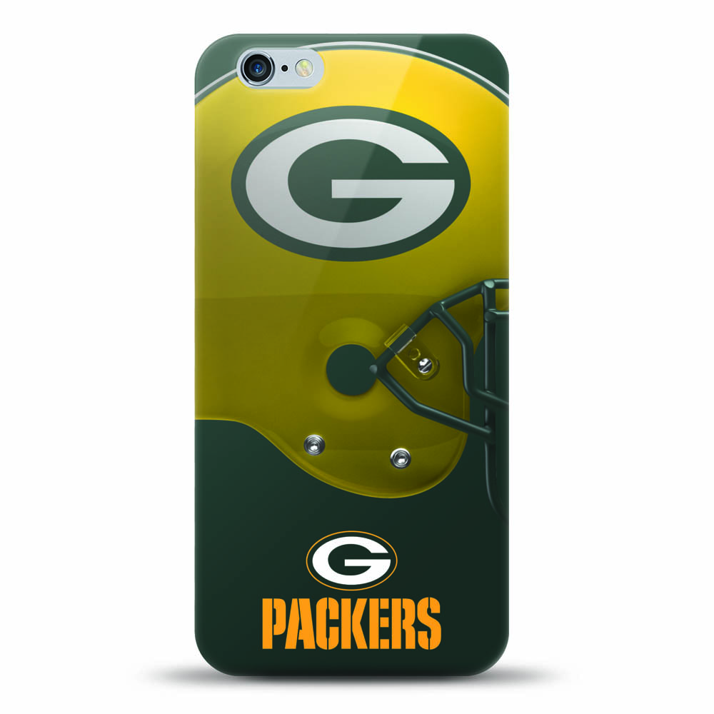 [MIZCO] Apple iPhone 8 / 7 / 6S / 6 Case, Helmet Series NFL Licensed [Green Bay Packers] Slim & Flexible Anti-shock Crystal Silicone Protective TPU Gel Skin Case Cover