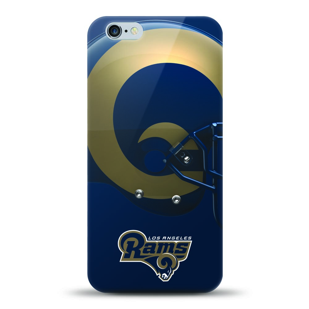 [MIZCO] Apple iPhone 8 / 7 / 6S / 6 Case, Helmet Series NFL Licensed [Los Angeles Rams] Slim & Flexible Anti-shock Crystal Silicone Protective TPU Gel Skin Case Cover