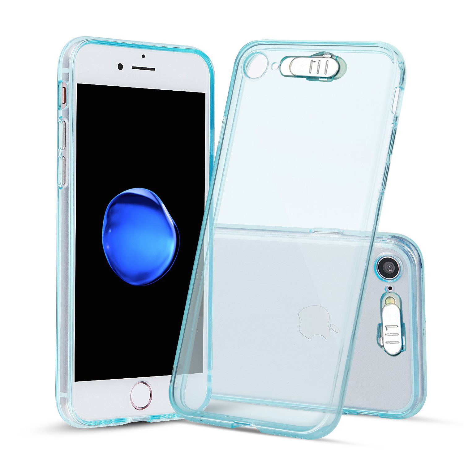 Made for Apple iPhone 8 / 7 / 6S / 6 LED TPU Case, [Blue] Slim Flexible Anti-shock [LED Light-Up Flashing] Crystal Silicone Protective TPU Gel Skin Case Cover by Redshield