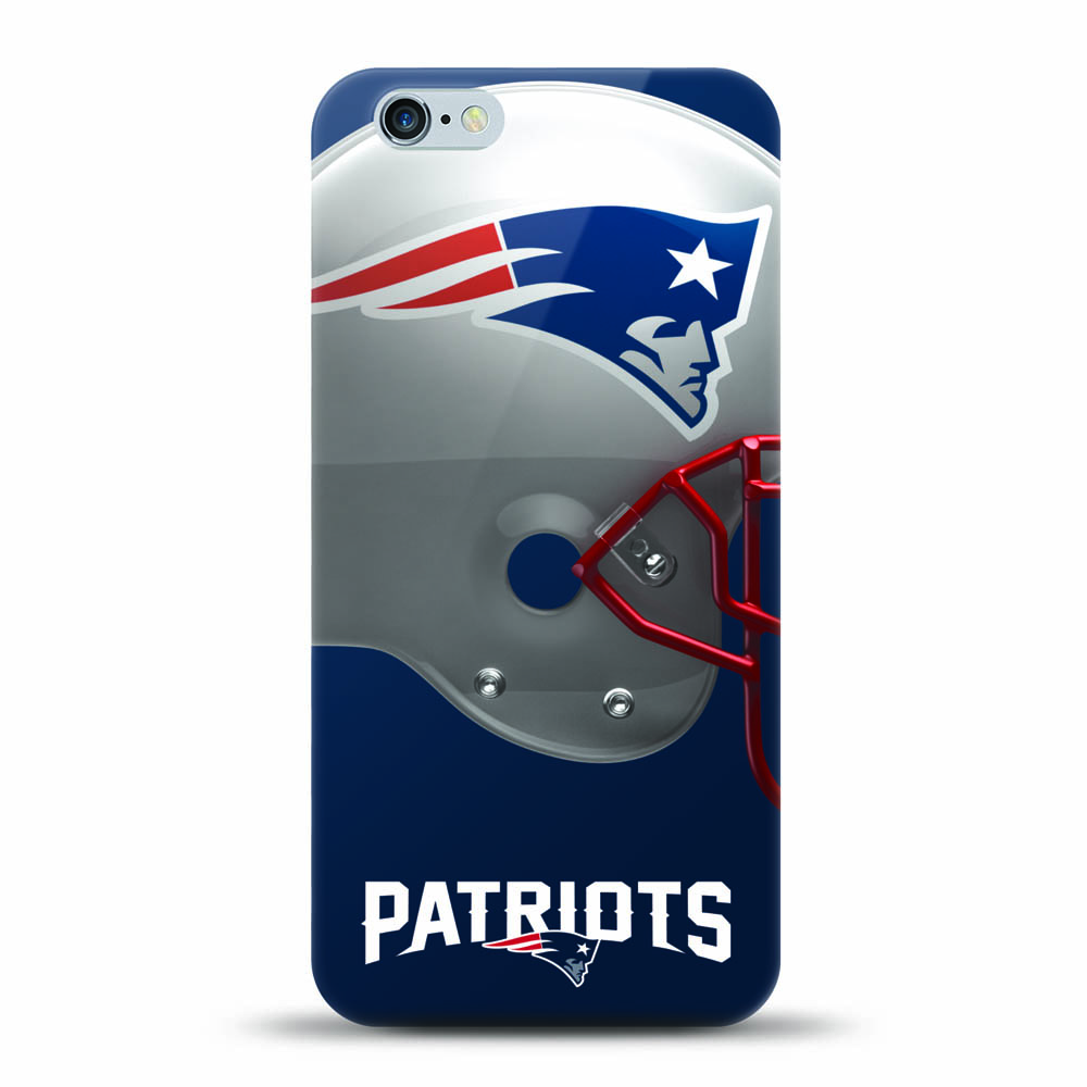 [MIZCO] Apple iPhone 8 / 7 / 6S / 6 Case, Helmet Series NFL Licensed [New England Patriots] Slim & Flexible Anti-shock Crystal Silicone Protective TPU Gel Skin Case Cover
