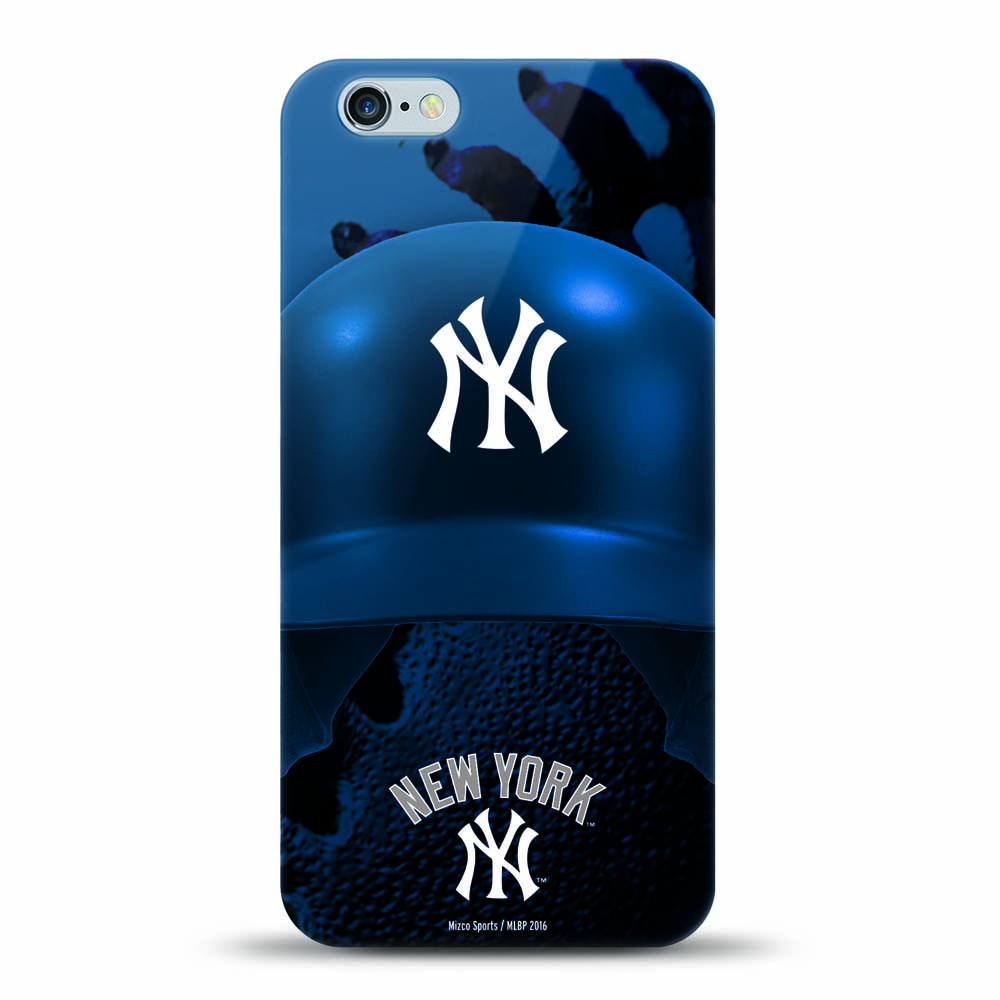 [MIZCO] Apple iPhone 8 / 7 / 6S / 6 Case, Helmet Series MLB Licensed [New York Yankees] Slim & Flexible Anti-shock Crystal Silicone Protective TPU Gel Skin Case Cover