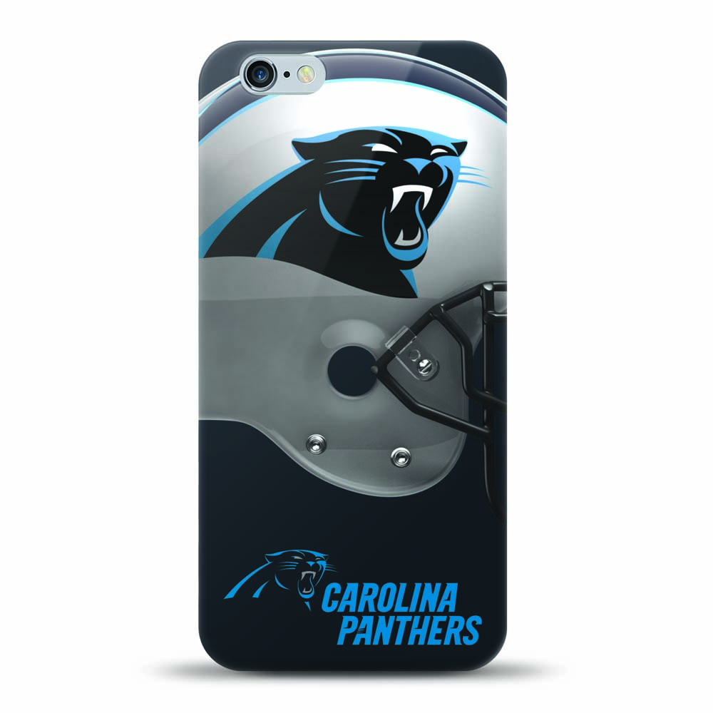 [MIZCO] Apple iPhone 8/7/6S/6 Case, Helmet Series NFL Licensed [Carolina Panthers] Slim & Flexible Anti-shock Crystal Silicone Protective TPU Gel Skin Case Cover