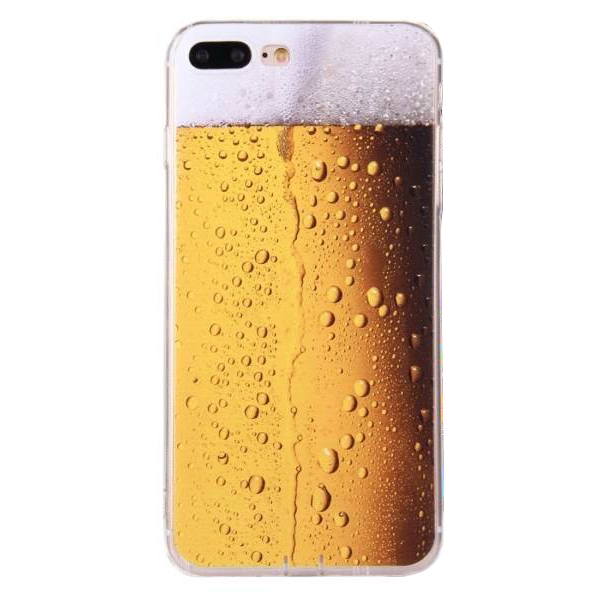 Made for Apple iPhone 8 Plus / 7 Plus / 6S Plus / 6 Plus TPU Case, [Beer Glass] Slim Flexible Anti-shock Crystal Silicone Protective TPU Gel Skin Case Cover by Redshield