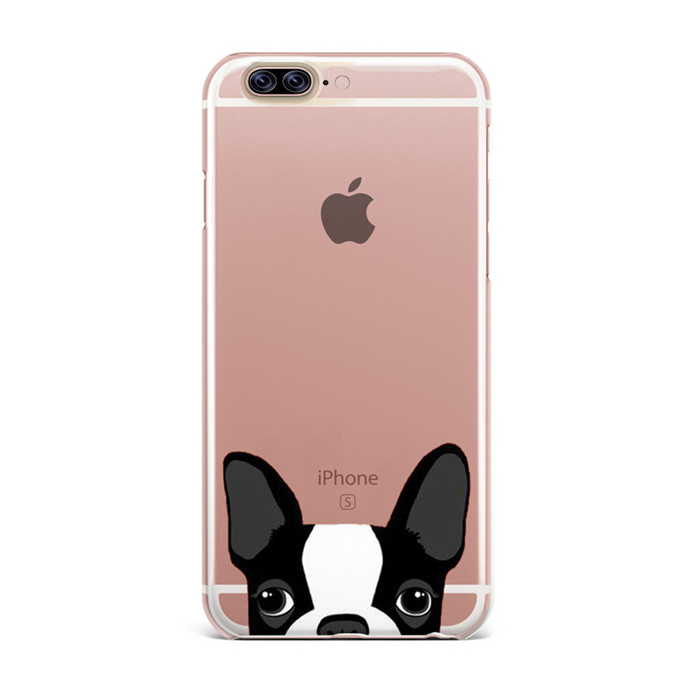 [REDshield] Apple iPhone 8 Plus / 7 Plus / 6S Plus / 6 Plus TPU Case, [Boston Terrier] Slim & Flexible Anti-shock Crystal Silicone Protective TPU Gel Skin Case Cover