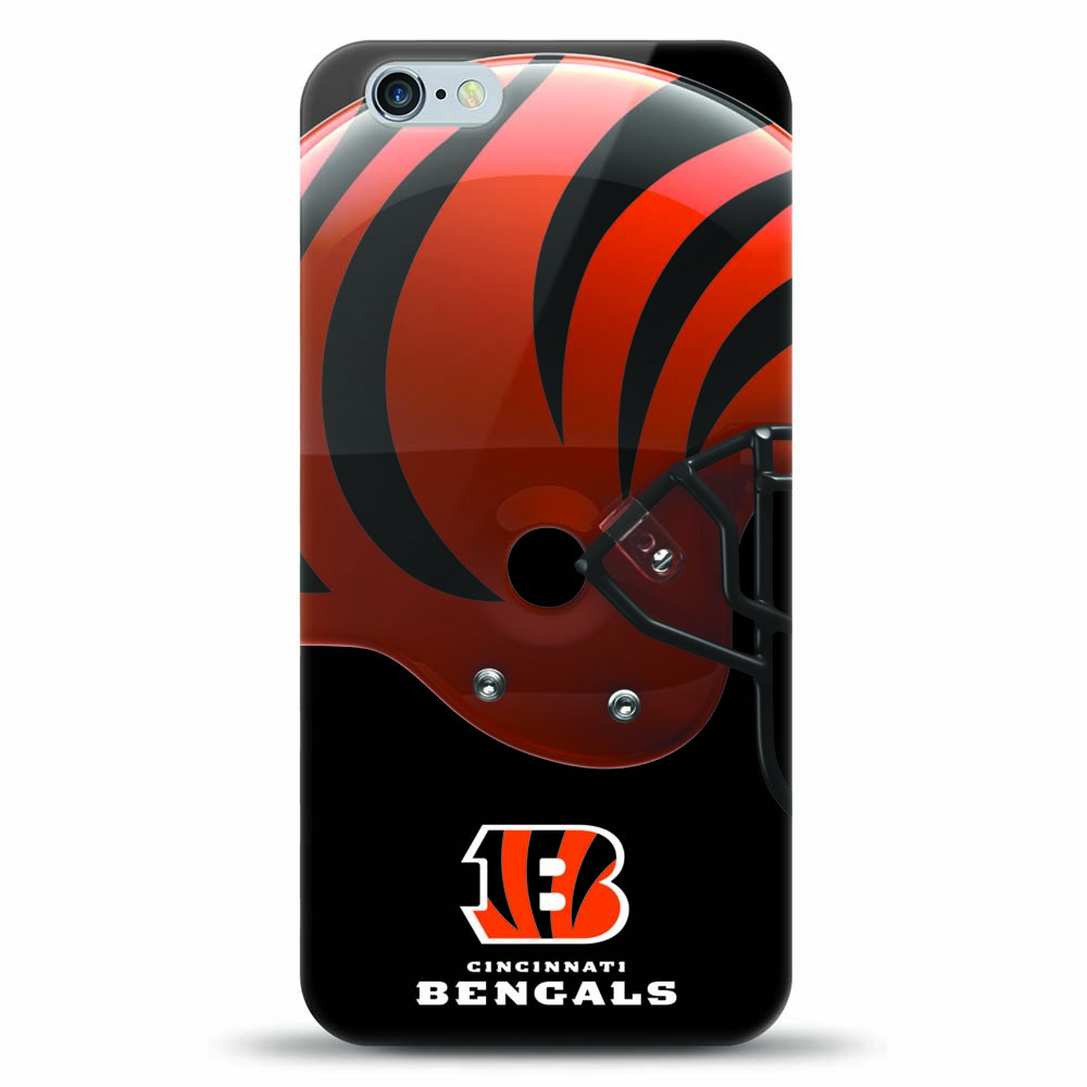 [MIZCO] Apple iPhone 8 Plus / 7 Plus / 6S Plus / 6 Plus Case, Helmet Series NFL Licensed [Cincinnati Bengals] Slim & Flexible Anti-shock Crystal Silicone Protective TPU Gel Skin Case Cover