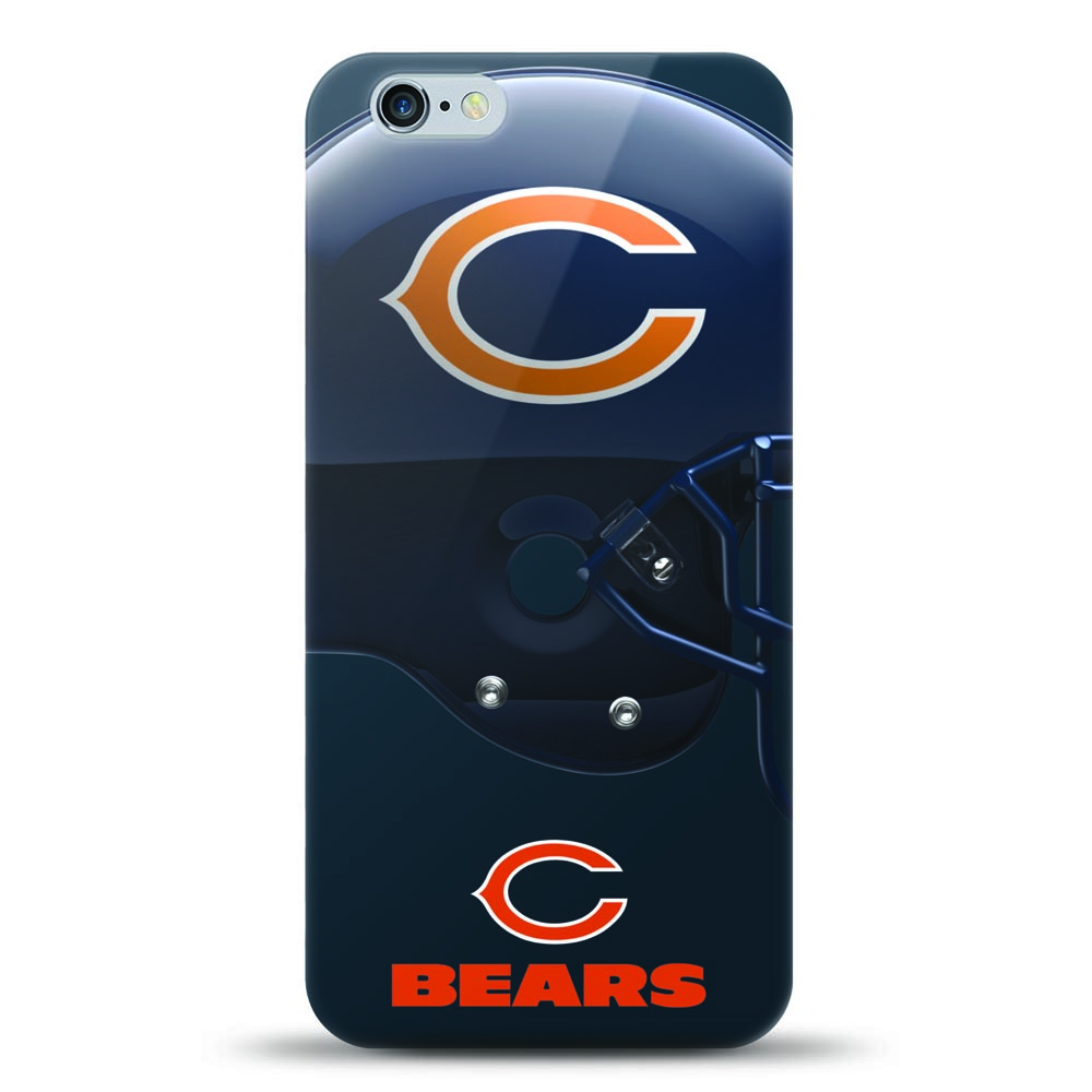 [MIZCO] Apple iPhone 8 Plus / 7 Plus / 6S Plus / 6 Plus Case, Helmet Series NFL Licensed [Chicago Bears] Slim & Flexible Anti-shock Crystal Silicone Protective TPU Gel Skin Case Cover
