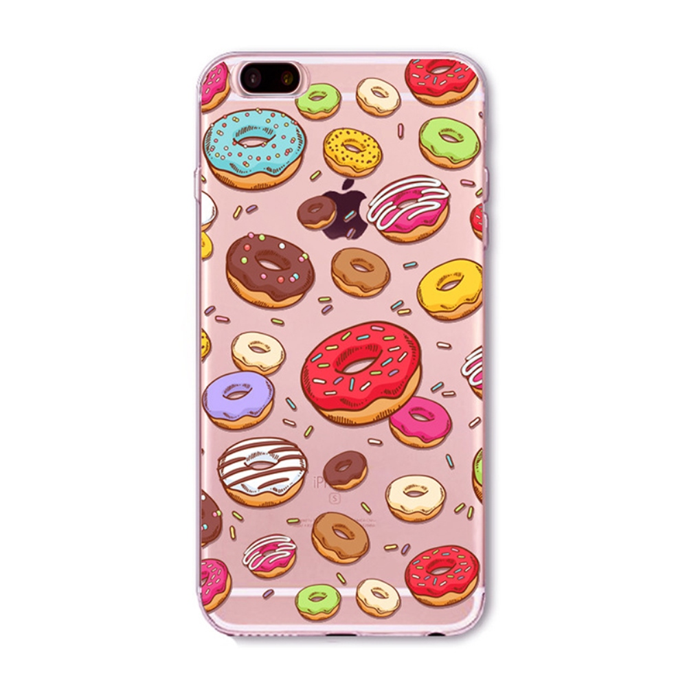 Made for Apple iPhone 8 Plus / 7 Plus / 6S Plus / 6 Plus TPU Case, [Colorful Donuts] Slim Flexible Anti-shock Crystal Silicone Protective TPU Gel Skin Case Cover by Redshield