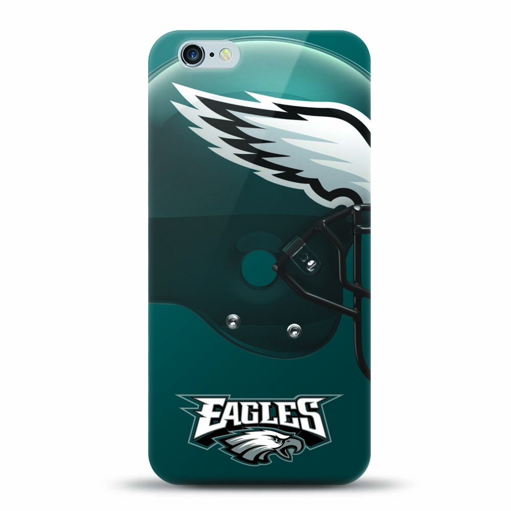 [MIZCO] Apple iPhone 8 Plus / 7 Plus / 6S Plus / 6 Plus Case, Helmet Series NFL Licensed [Philadelphia Eagles] Slim & Flexible Anti-shock Crystal Silicone Protective TPU Gel Skin Case Cover