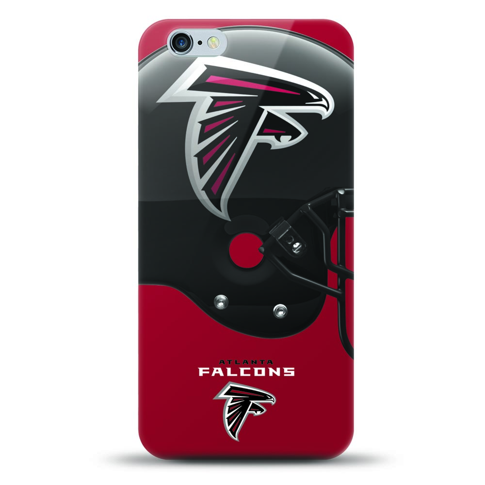[MIZCO] Apple iPhone 8 Plus / 7 Plus / 6S Plus / 6 Plus Case, Helmet Series NFL Licensed [Atlanta Falcons] Slim & Flexible Anti-shock Crystal Silicone Protective TPU Gel Skin Case Cover