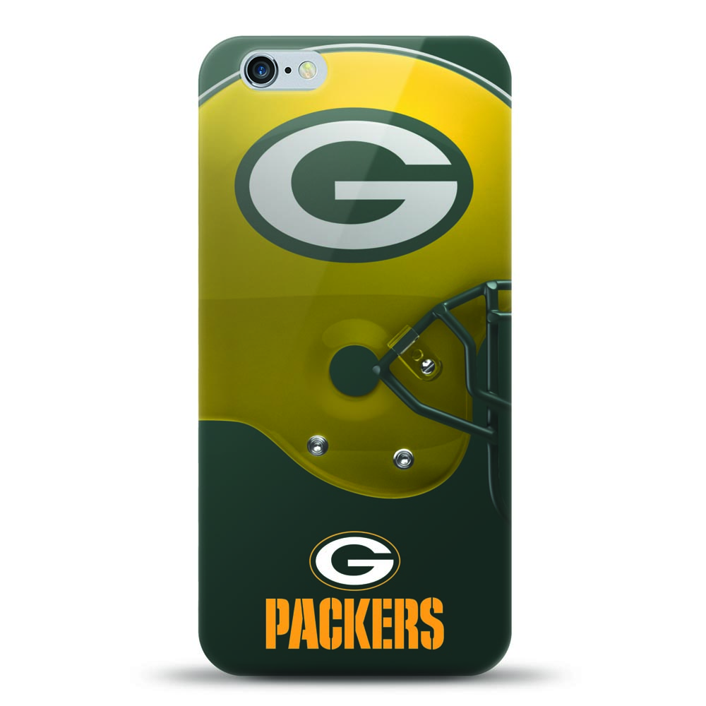 [MIZCO] Apple iPhone 8 Plus / 7 Plus / 6S Plus / 6 Plus Case, Helmet Series NFL Licensed [Green Bay Packers] Slim & Flexible Anti-shock Crystal Silicone Protective TPU Gel Skin Case Cover