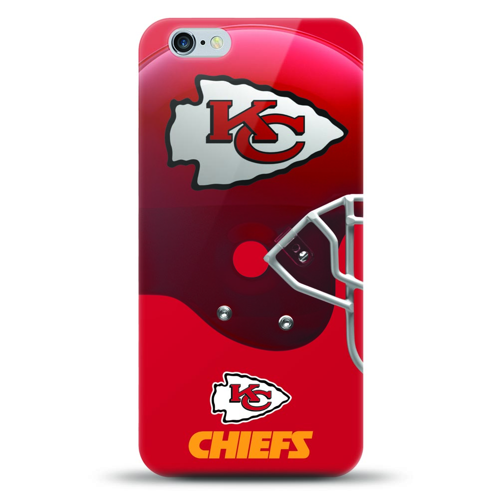 [MIZCO] Apple iPhone 8 Plus / 7 Plus / 6S Plus / 6 Plus Case, Helmet Series NFL Licensed [Kansas City Chiefs] Slim & Flexible Anti-shock Crystal Silicone Protective TPU Gel Skin Case Cover