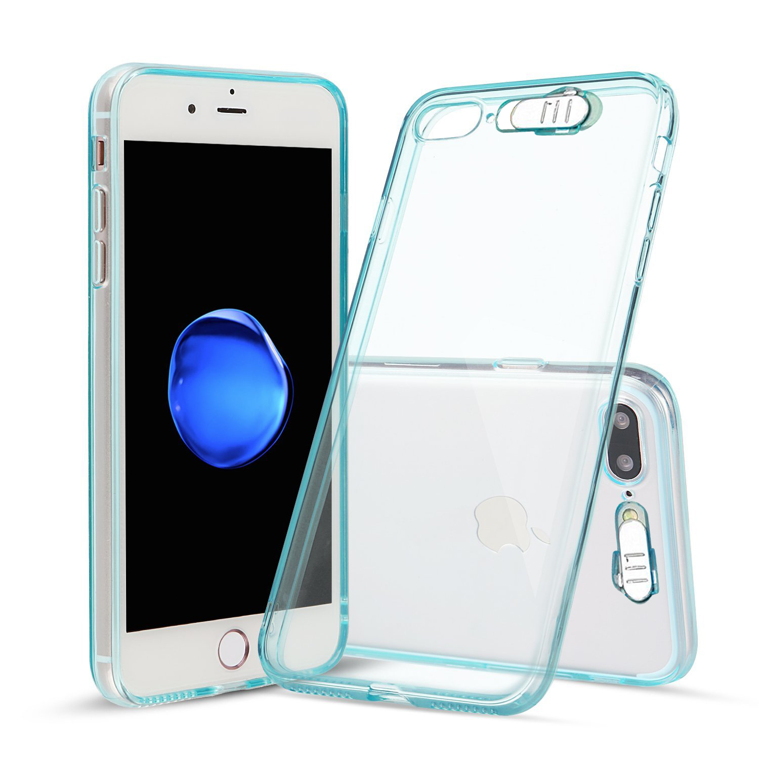 Made for Apple iPhone 8 Plus / 7 Plus / 6S Plus / 6 Plus LED TPU Case, [Blue] Slim Flexible Anti-shock [LED Light-Up Flashing] Crystal Silicone Protective TPU Gel Skin Case Cover by Redshield