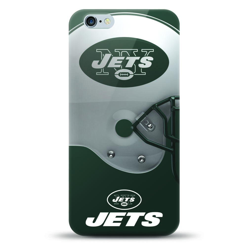 [MIZCO] Apple iPhone 8 Plus / 7 Plus / 6S Plus / 6 Plus Case, Helmet Series NFL Licensed [New York Jets] Slim & Flexible Anti-shock Crystal Silicone Protective TPU Gel Skin Case Cover