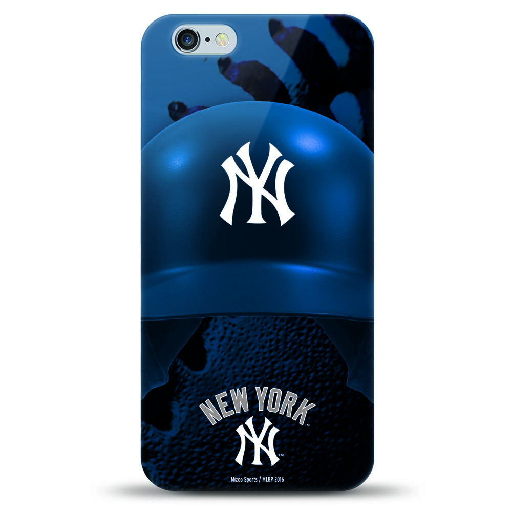 [MIZCO] Apple iPhone 8 Plus / 7 Plus / 6S Plus / 6 Plus Case, Helmet Series MLB Licensed [New York Yankees] Slim & Flexible Anti-shock Crystal Silicone Protective TPU Gel Skin Case Cover