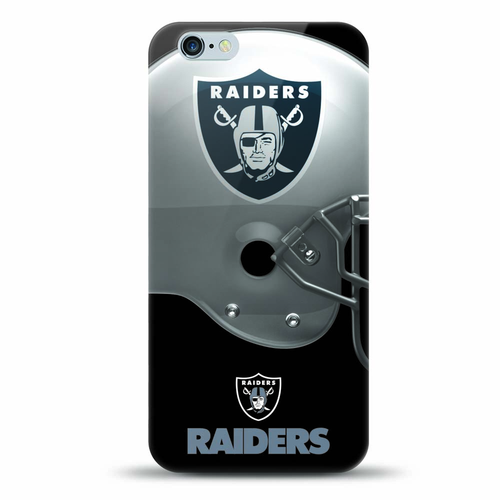 [MIZCO] Apple iPhone 8 Plus / 7 Plus / 6S Plus / 6 Plus Case, Helmet Series NFL Licensed [Oakland Raiders] Slim & Flexible Anti-shock Crystal Silicone Protective TPU Gel Skin Case Cover