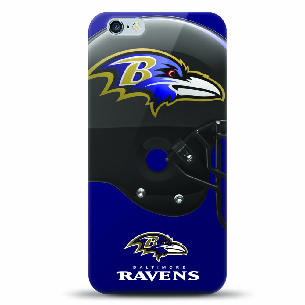 [MIZCO] Apple iPhone 8 Plus / 7 Plus / 6S Plus / 6 Plus Case, Helmet Series NFL Licensed [Baltimore Ravens] Slim & Flexible Anti-shock Crystal Silicone Protective TPU Gel Skin Case Cover