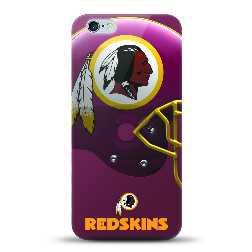 [MIZCO] Apple iPhone 8 Plus / 7 Plus / 6S Plus / 6 Plus Case, Helmet Series NFL Licensed [Washington Redskins] Slim & Flexible Anti-shock Crystal Silicone Protective TPU Gel Skin Case Cover