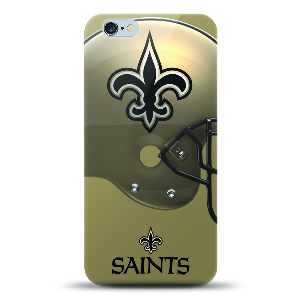 [MIZCO] Apple iPhone 8 Plus / 7 Plus / 6S Plus / 6 Plus Case, Helmet Series NFL Licensed [New Orleans Saints] Slim & Flexible Anti-shock Crystal Silicone Protective TPU Gel Skin Case Cover