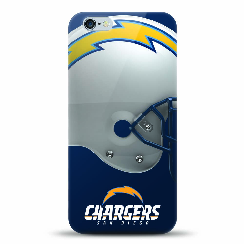 [MIZCO] Apple iPhone 8 Plus / 7 Plus / 6S Plus / 6 Plus Case, Helmet Series NFL Licensed [San Diego Chargers] Slim & Flexible Anti-shock Crystal Silicone Protective TPU Gel Skin Case Cover