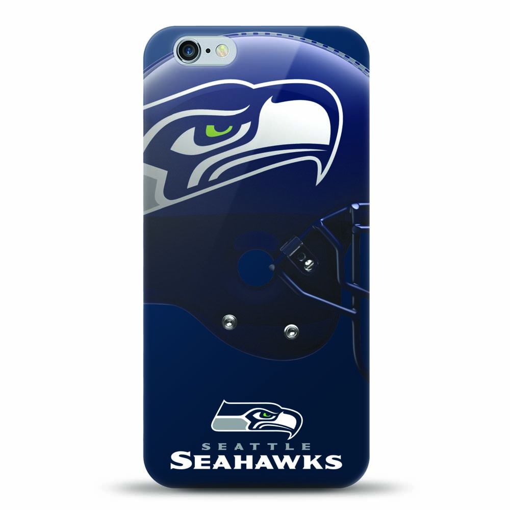 [MIZCO] Apple iPhone 8 Plus / 7 Plus / 6S Plus / 6 Plus Case, Helmet Series NFL Licensed [Seattle Seahawks] Slim & Flexible Anti-shock Crystal Silicone Protective TPU Gel Skin Case Cover