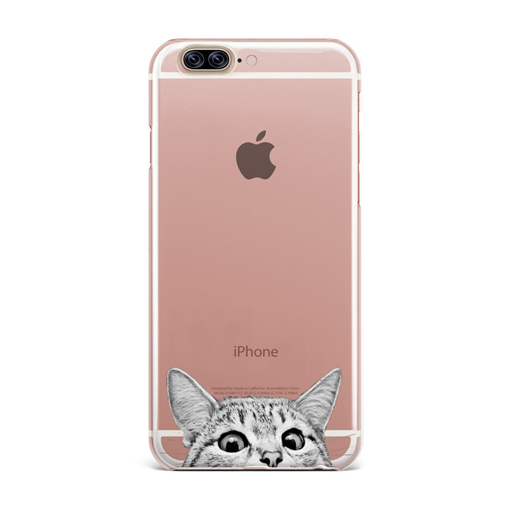 Made for Apple iPhone 8 Plus / 7 Plus / 6S Plus / 6 Plus TPU Case, [Tabby Kitty Cat] Slim Flexible Anti-shock Crystal Silicone Protective TPU Gel Skin Case Cover by Redshield