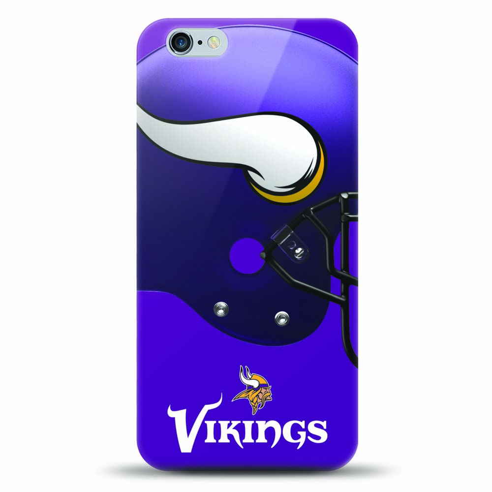 [MIZCO] Apple iPhone 8 Plus / 7 Plus / 6S Plus / 6 Plus Case, Helmet Series NFL Licensed [Minnesota Vikings] Slim & Flexible Anti-shock Crystal Silicone Protective TPU Gel Skin Case Cover