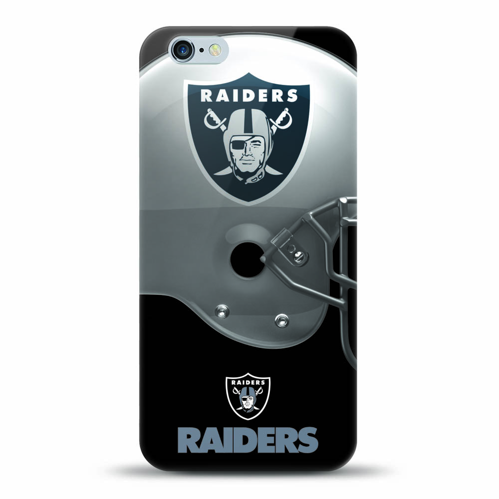 [MIZCO] Apple iPhone 8 / 7 / 6S / 6 Case, Helmet Series NFL Licensed [Oakland Raiders] Slim & Flexible Anti-shock Crystal Silicone Protective TPU Gel Skin Case Cover