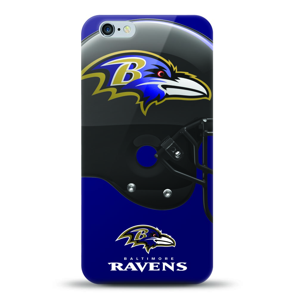 [MIZCO] Apple iPhone 8 / 7 / 6S / 6 Case, Helmet Series NFL Licensed [Baltimore Ravens] Slim & Flexible Anti-shock Crystal Silicone Protective TPU Gel Skin Case Cover