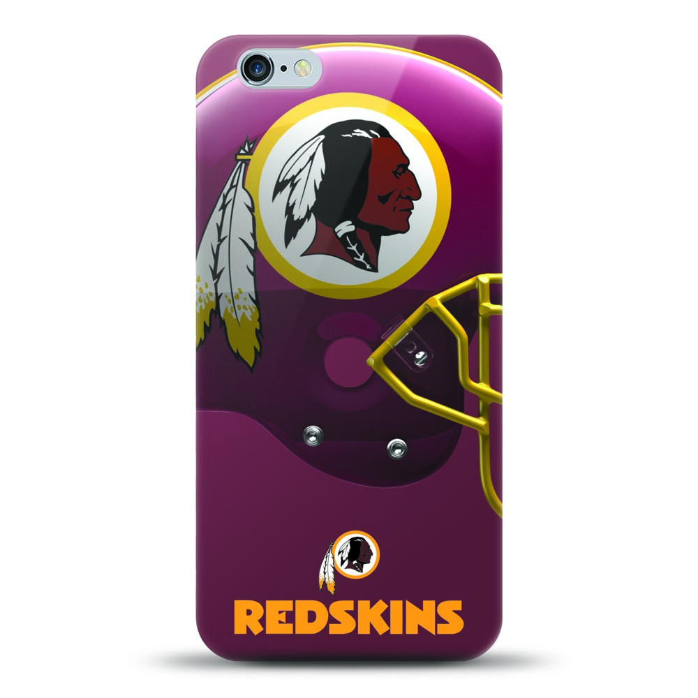 [MIZCO] Apple iPhone 8 / 7 / 6S / 6 Case, Helmet Series NFL Licensed [Washington Redskins] Slim & Flexible Anti-shock Crystal Silicone Protective TPU Gel Skin Case Cover