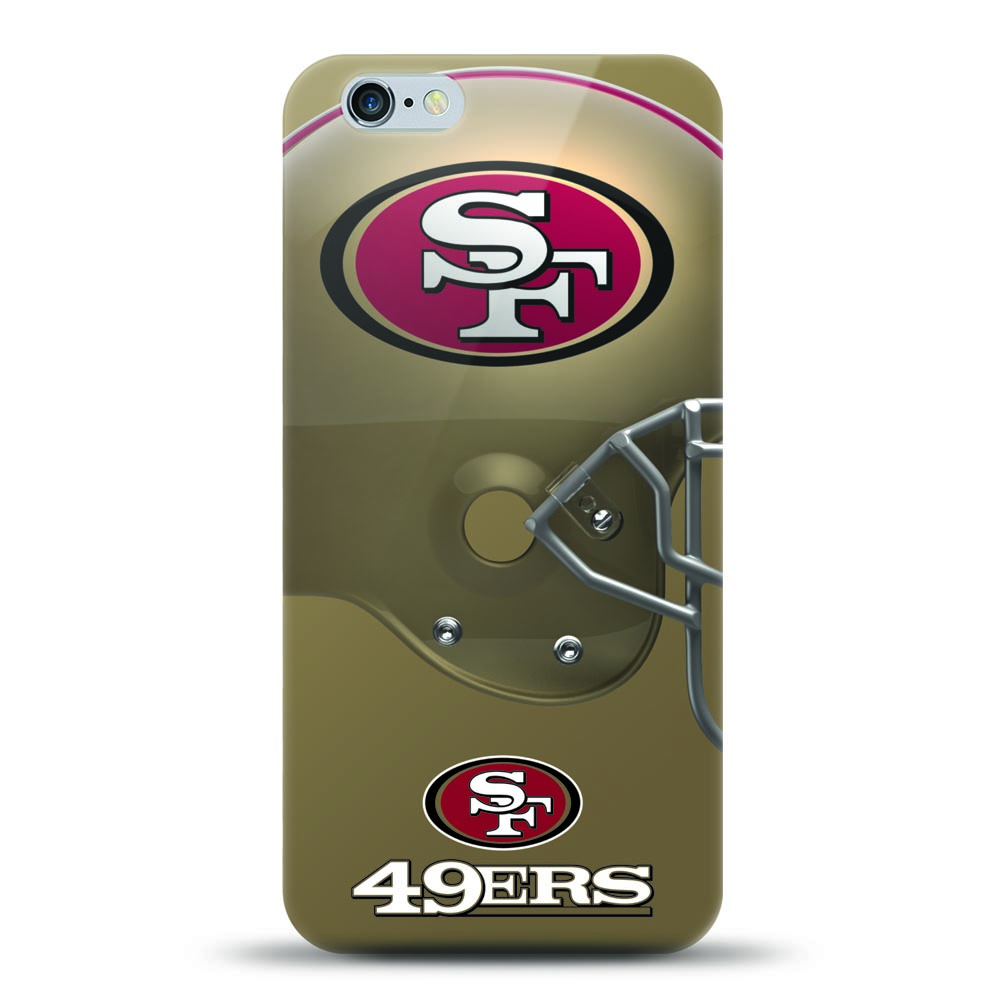 [MIZCO] Apple iPhone 8 / 7 / 6S / 6 Case, Helmet Series NFL Licensed [San Francisco 49ers] Slim & Flexible Anti-shock Crystal Silicone Protective TPU Gel Skin Case Cover