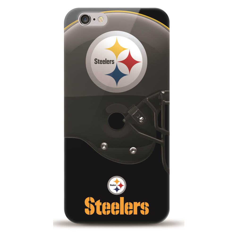 [MIZCO] Apple iPhone 8 / 7 / 6S / 6 Case, Helmet Series NFL Licensed [Pittsburg Steelers] Slim & Flexible Anti-shock Crystal Silicone Protective TPU Gel Skin Case Cover