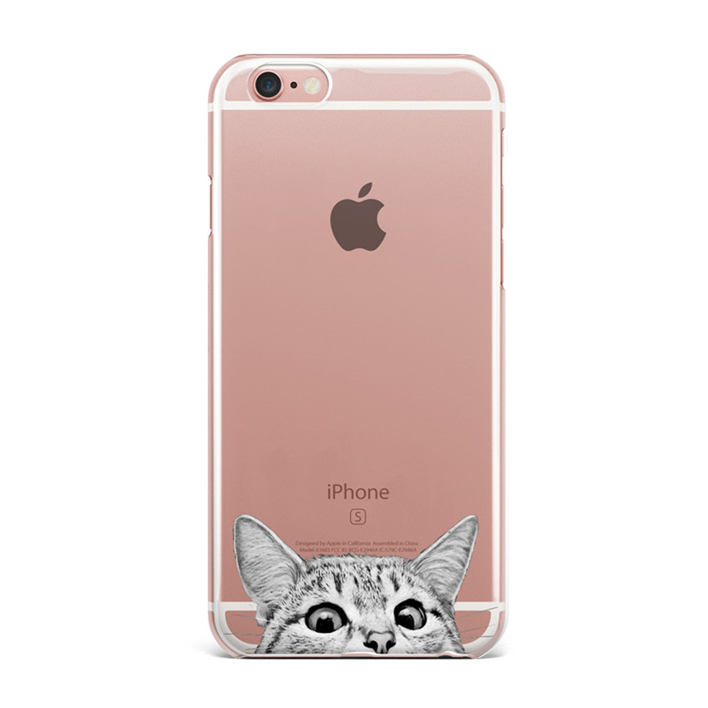 [REDshield] Apple iPhone 8 / 7 / 6S / 6 TPU Case, [Tabby Kitty Cat] Slim & Flexible Anti-shock Crystal Silicone Protective TPU Gel Skin Case Cover