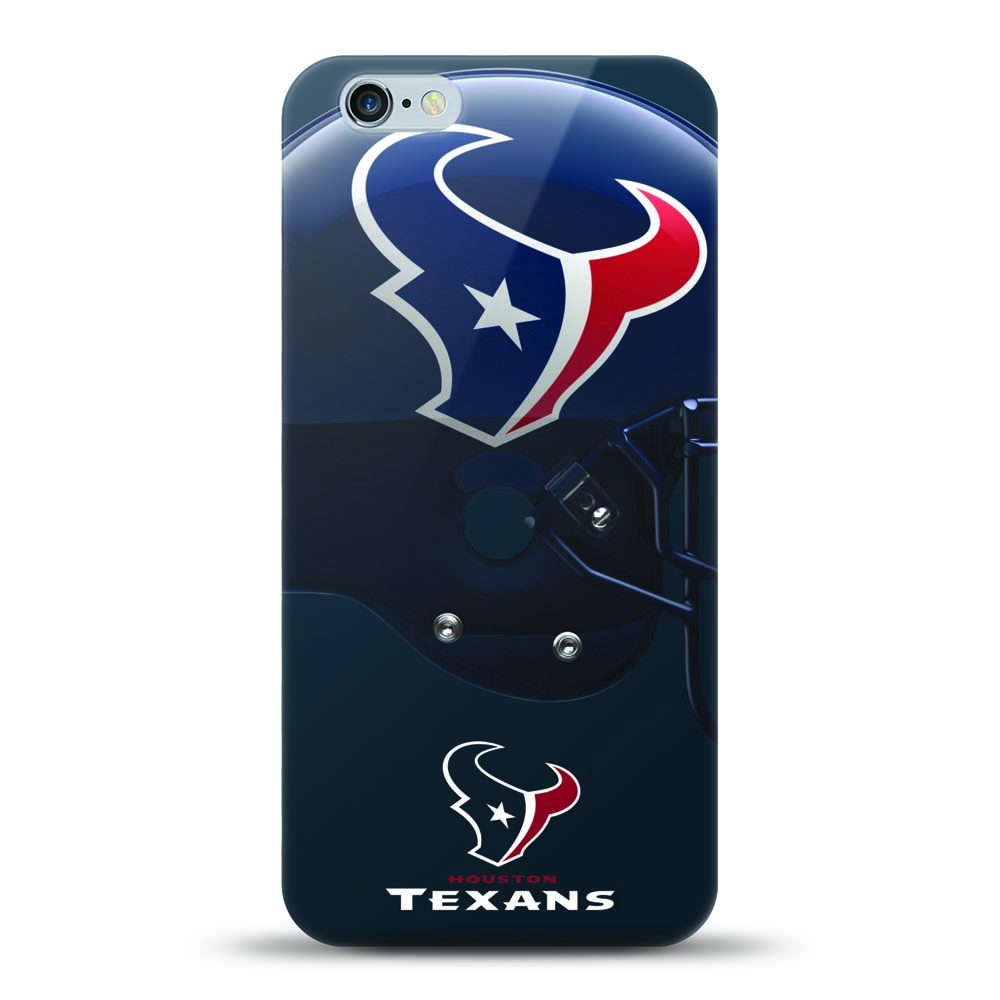 [MIZCO] Apple iPhone 8 / 7 / 6S / 6 Case, Helmet Series NFL Licensed [Houston Texans] Slim & Flexible Anti-shock Crystal Silicone Protective TPU Gel Skin Case Cover