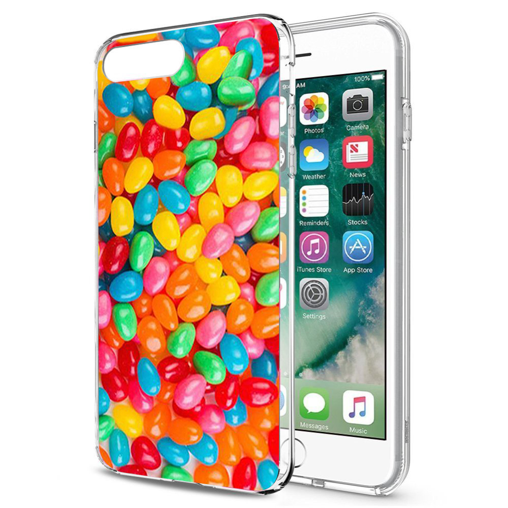 Made for Apple iPhone 8 / 7 TPU Case, [Jellybeans] Slim Flexible Anti-shock Crystal Silicone Protective TPU Gel Skin Case Cover by Redshield