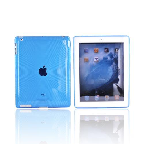 Apple iPad (2nd & 3rd Gen.) Crystal Silicone Case - Blue