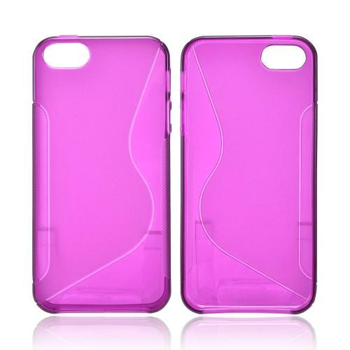 Made for Apple iPhone SE / 5 / 5S  Case,  [Magenta S]  Slim Flexible Anti-shock Crystal Silicone Protective TPU Gel Skin Case Cover by Redshield