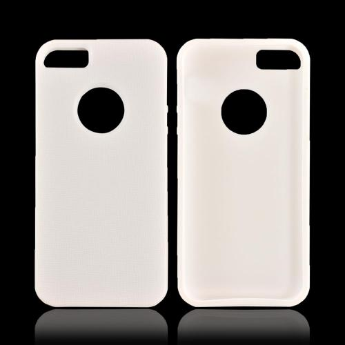 Apple iPhone SE / 5 / 5S  Case,  [White]  Slim & Flexible Anti-shock Crystal Silicone Protective TPU Gel Skin Case Cover w/ Bumper
