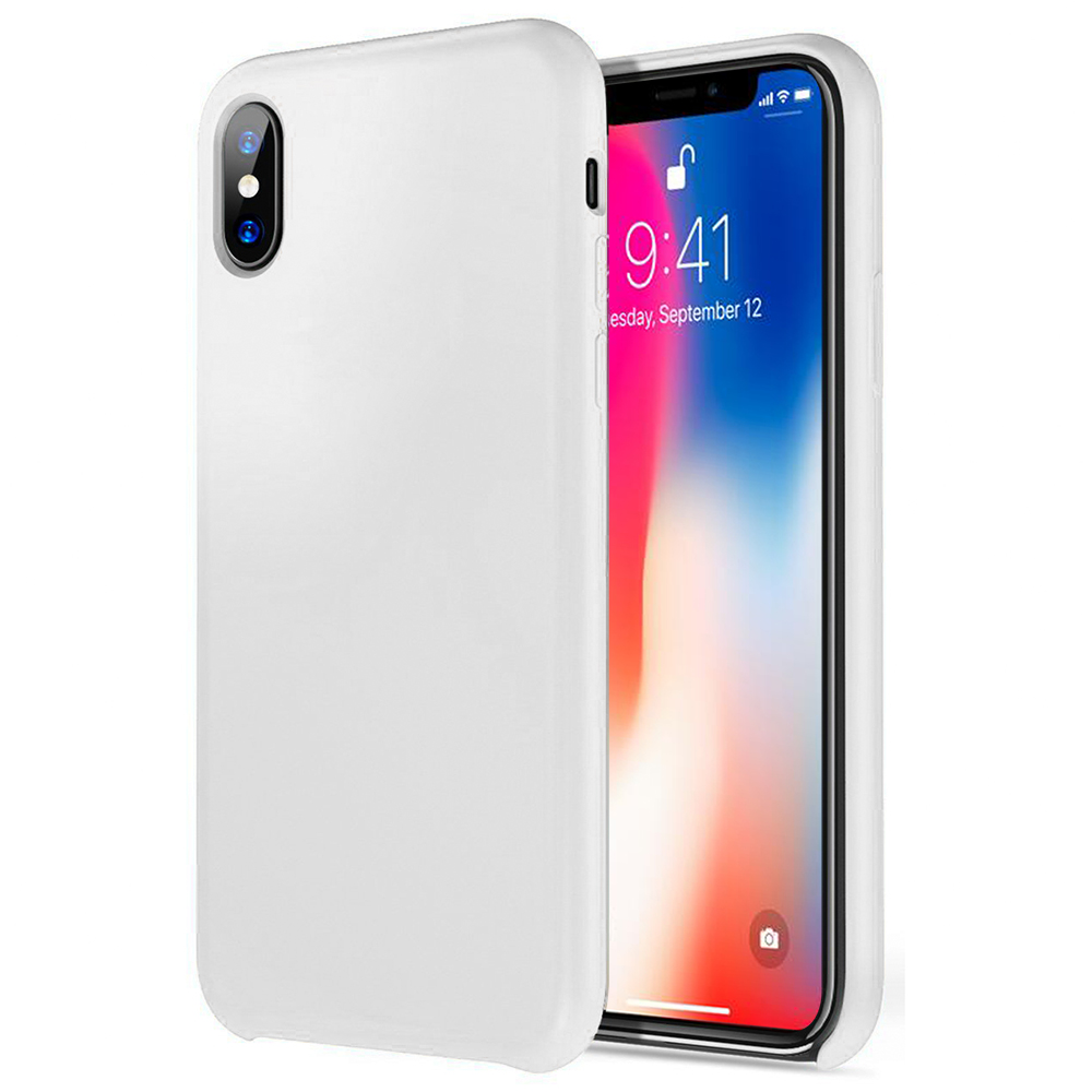 [Apple iPhone X] [Simple Series] TPU Case, Slim & Flexible Anti-shock Crystal Silicone Protective TPU Gel Skin Case [WHITE]